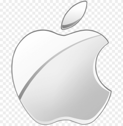 white apple logo png pineapple vector outline clipart apple logo silver PNG image with transparent background TOPpng