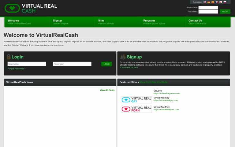 Virtual Real Cash - top Porn Affiliate Network