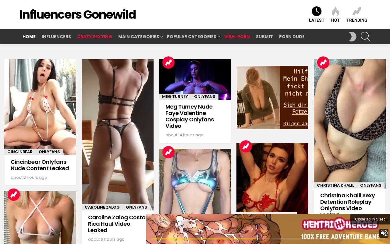 Influencers Gonewild - top Free Onlyfans Leak Sites