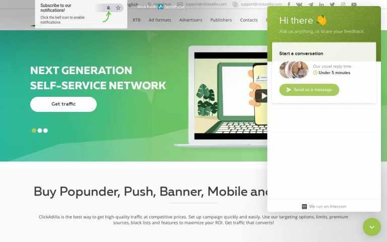 Clickadilla - top Adult AD Networks
