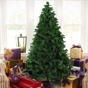 best choice products 6 premium hinged artificial christmas pine tree with solid metal legs 1000 tips full tree