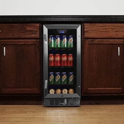 EdgeStar CBR901SG 80 Can 15 Inch Wide Built In Beverage Cooler U2013 Best Small Undercounter  Beverage Refrigerator 80 Can