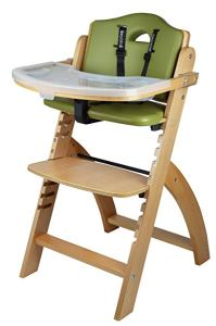 Abiie Beyond Wooden High Chair With Tray. The Perfect Adjustable Baby Highchair Solution For Your Babies and Toddlers or as a Dining