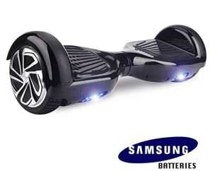 Hoverboard UL 2272 Certified 6.5 Self Balancing Wheel Electric Scooter w Bluetooth Speaker and LED Light- Black