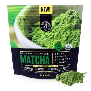 Jade Leaf Matcha Green Tea Powder - USDA Organic, Authentic Japanese Origin - Classic Culinary Grade (Smoothies, Lattes, Baking, Recipes)