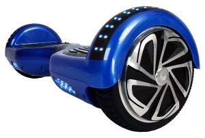 WorryFree Gadgets UL2272 Certified Smart Self Balancing Hoverboard Personal Adult Transporter with LED Light- Blue