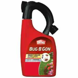 Ortho Bug B Gon Insect Killer for Lawns and Gardens Hose-End Sprayer 32 Fl. Oz