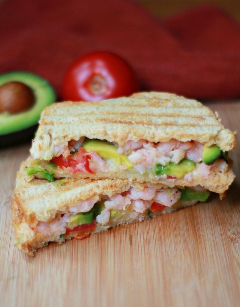 Shrimp Avocado Panini