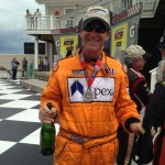 Driver: David Baker Celebrating his podium in class.