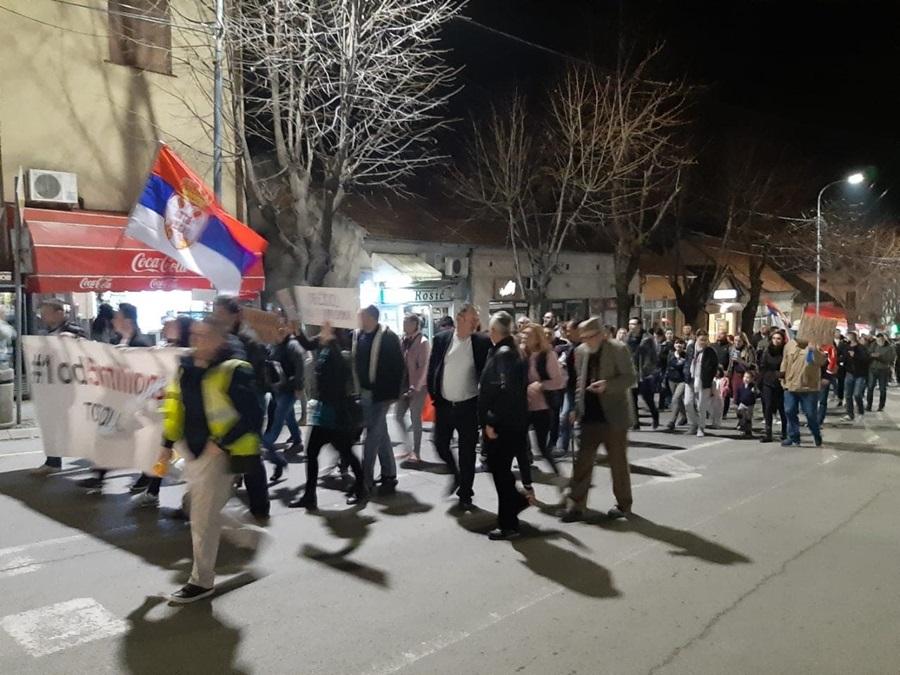 """Протест """"1 од 5 милиона"""" одржан шести пут у Тополи"""