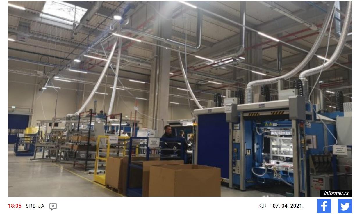 """У """"Фениксу"""" од маја 1.000 нових радних места: Градоначелник Крагујевца обишао погоне за нову фабрику ауто делова"""