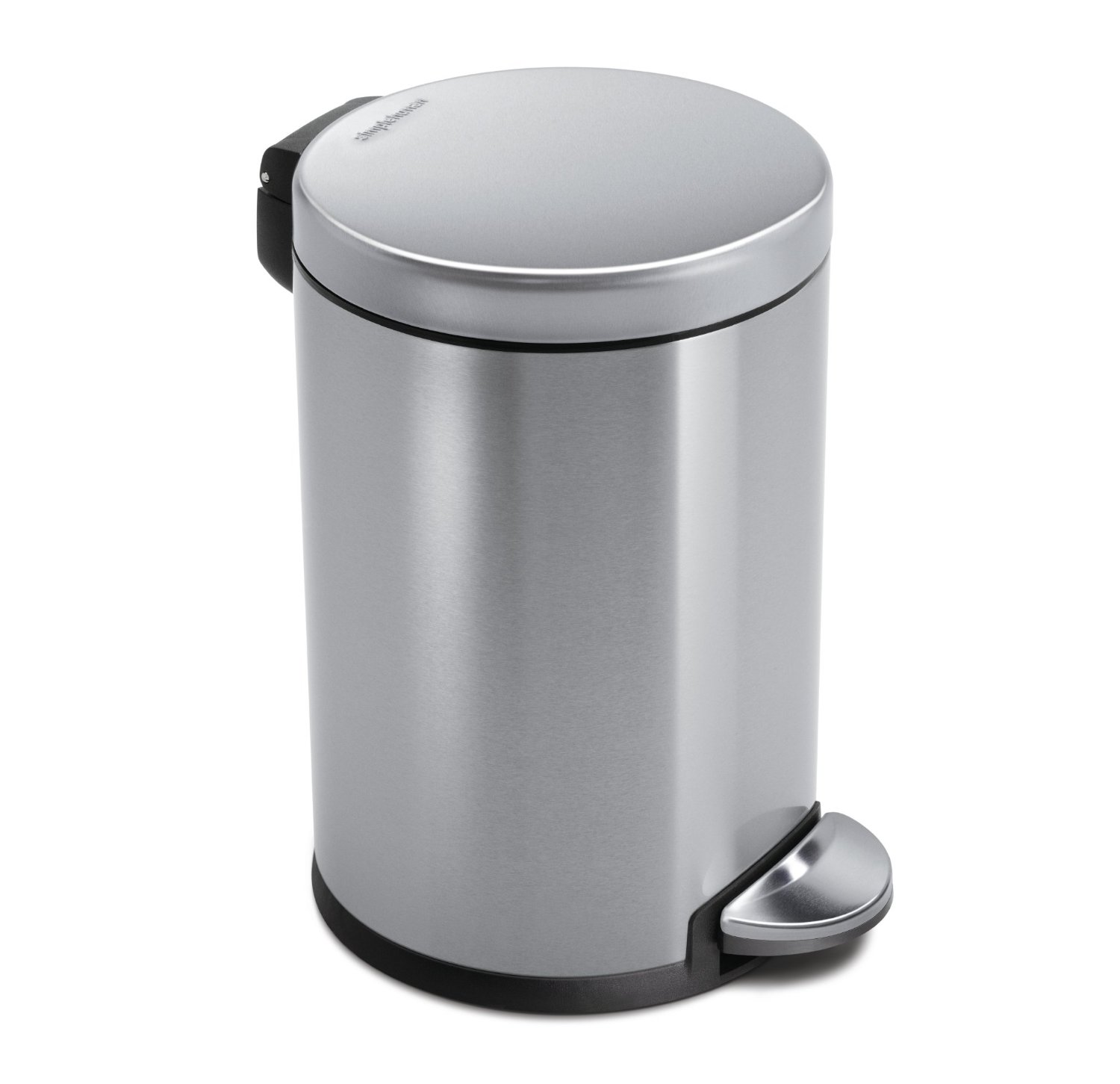 kitchen trash bin farmhouse faucet best can reviews of 2019 at topproducts com simplehuman 4 5 l 1 2 gal mini round step stainless steel available sink