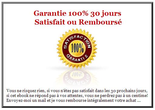 100 % Garantie Satisfait ou remboursé