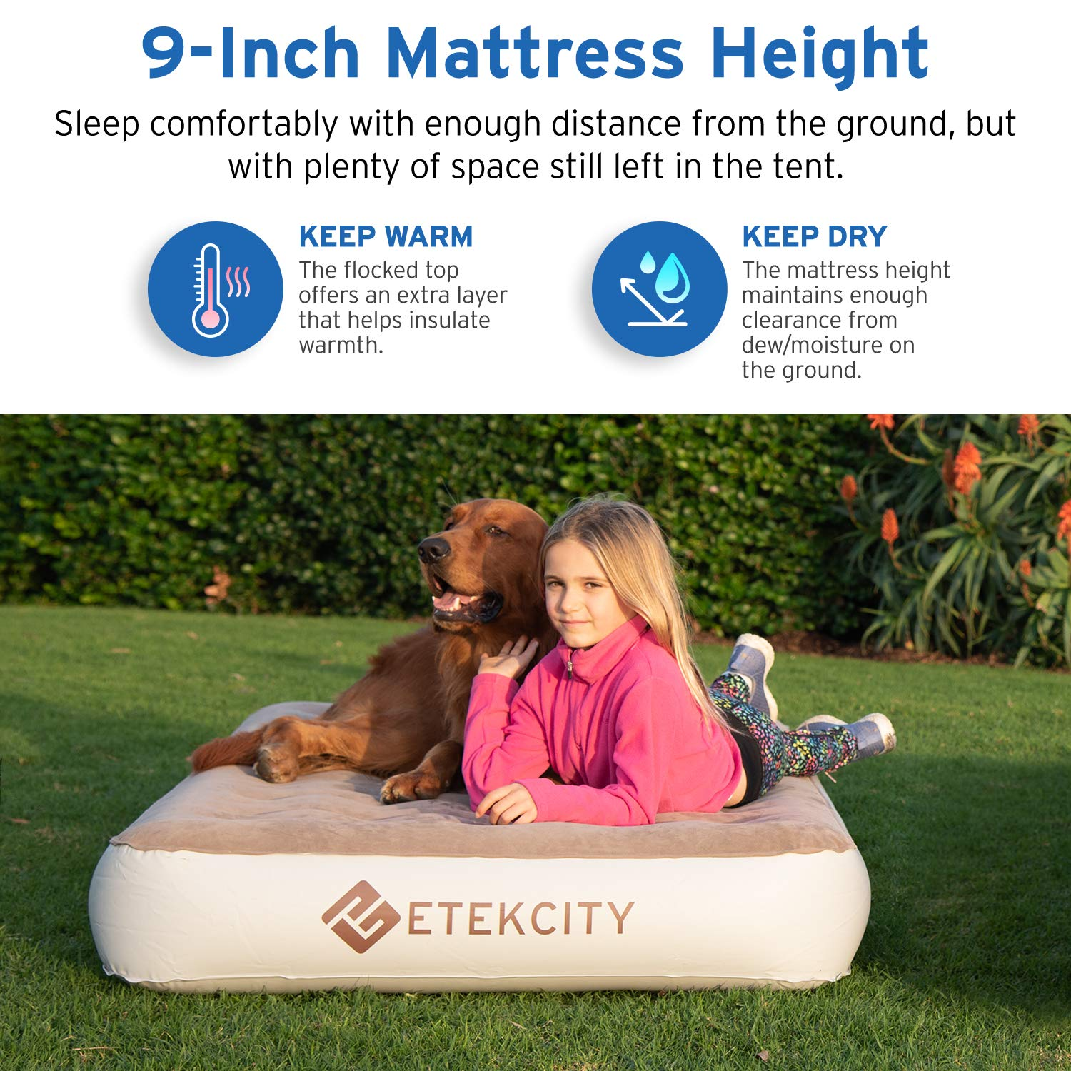 Etekcity Queen Twin Size Camping Air Mattress
