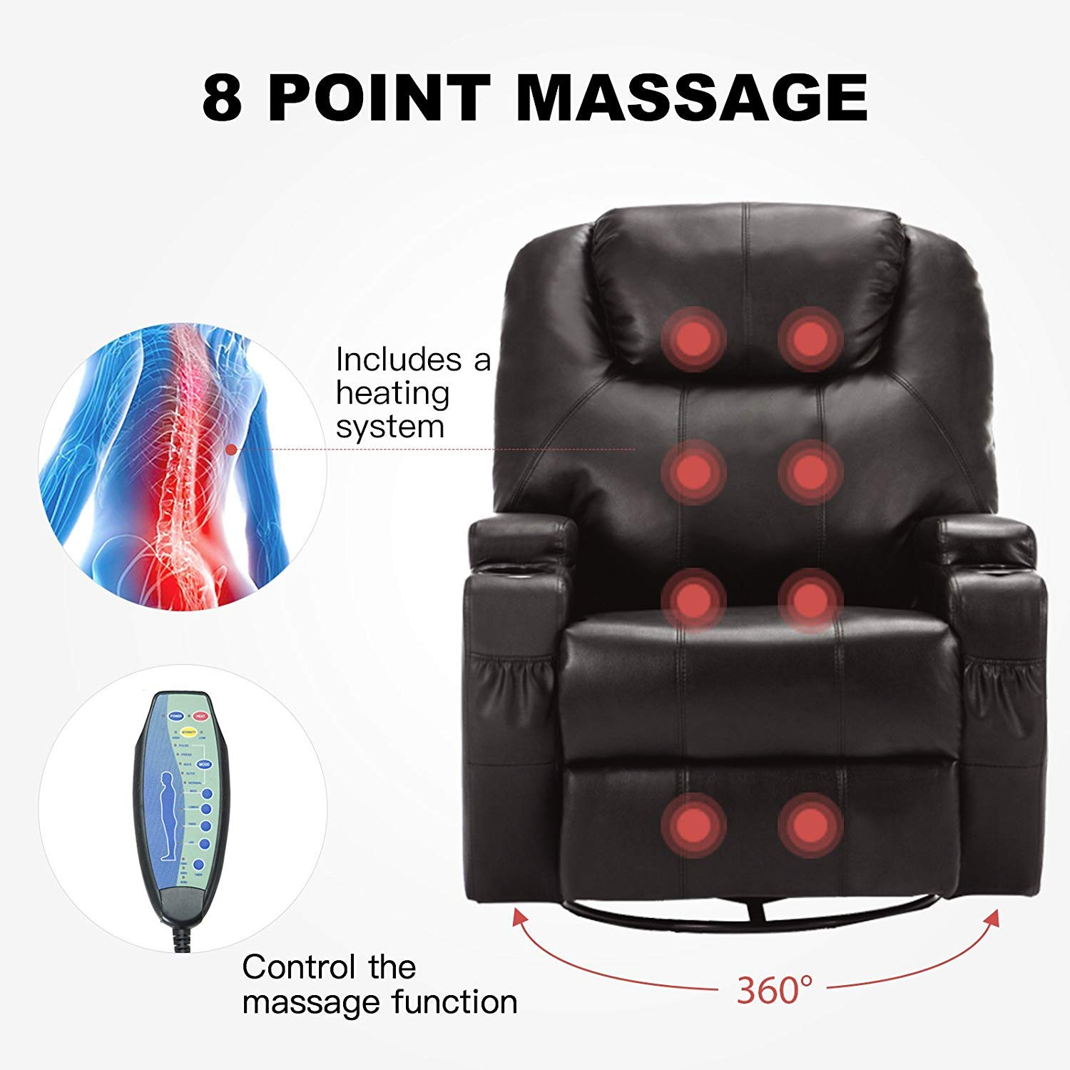 Mecor Electric Massage Recliner Chair info
