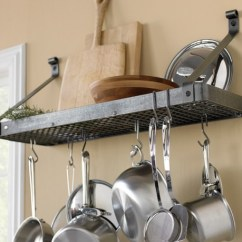 Pot Racks For Kitchen Flush Mount Light 10 Reasons To Add A Wall Rack Storage Mounted