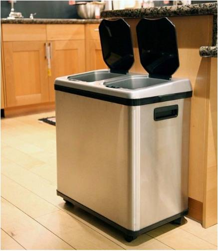 kitchen trash commercial lighting best recycling bins combo reviews and guide stainless steel bin