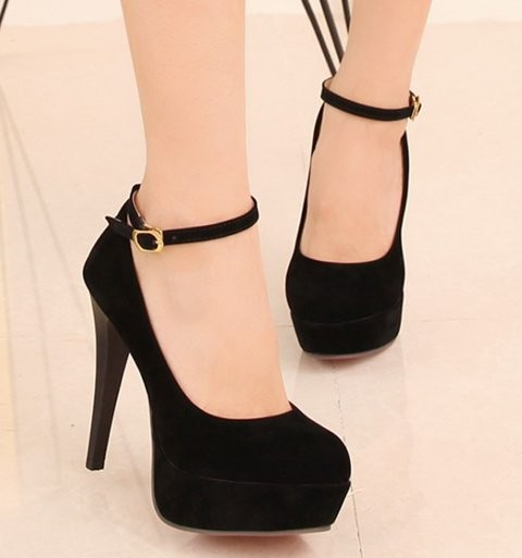 ankle strapped high heels shoes US size 3