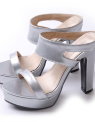 extra petite silver heels ankle straps hoof