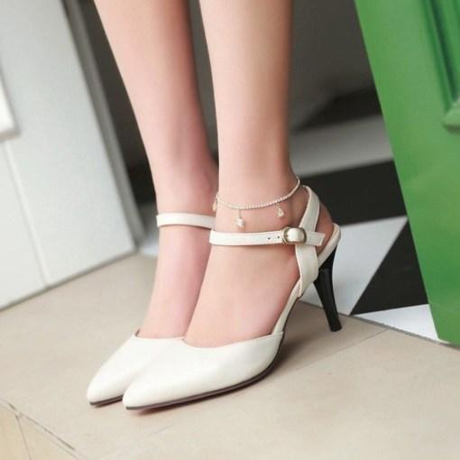 cream color extra petite sexy heels