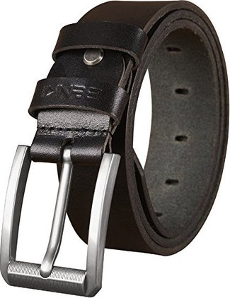 benkii mens genuine leather belt for dress and jeans - big and tall size - great gift idea