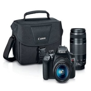 canon eos rebel t6 dslr camera with ef-s 18-55mm and ef 75-300mm lenses kit