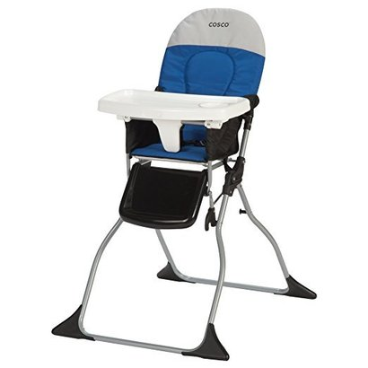 cosco simple fold high chair colorblock surf the web blue