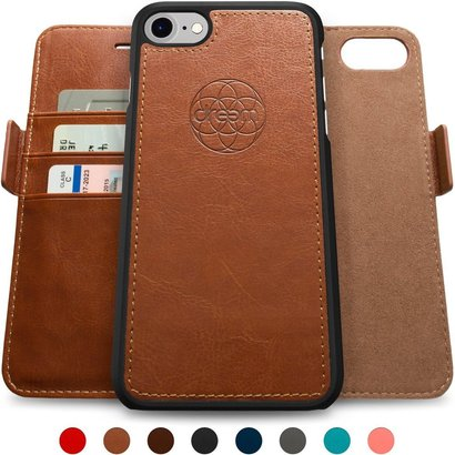 dreem iphone 7 plus wallet case with detachable slimcase fibonacci luxury series vegan leather rfid protection 2 kickstands