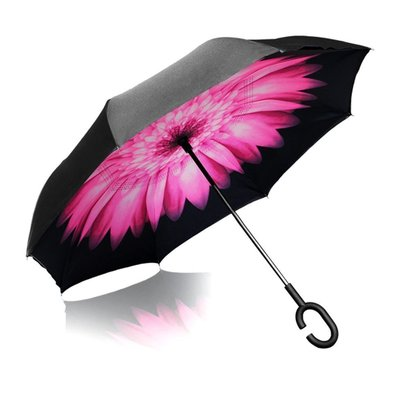 elover double layer inverted reverse umbrella with c shaped handle