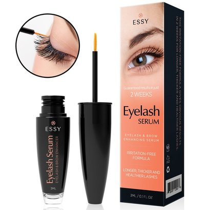 essy natural eyelash growth enhancer and brow serum for long, luscious lashes and eyebrows