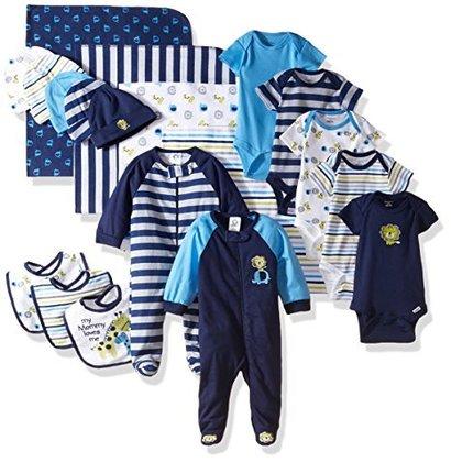 gerber baby-boys newborn 19 piece newborn essentials gift set