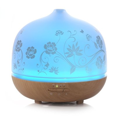 iselector 500ml glass aromatherapy essential oil diffuser
