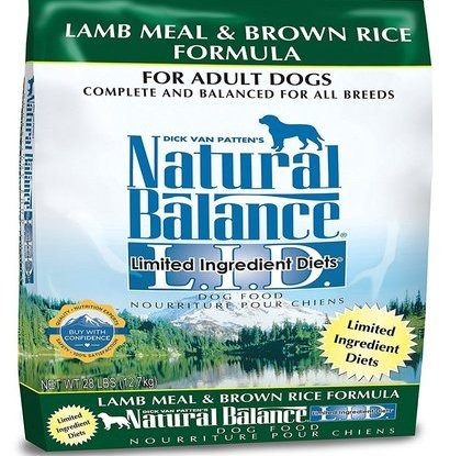 natural balance limited ingredient diet lamb meal and brown rice dry dog food