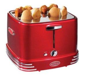 nostalgia rhdt800retrored pop-up hot dog toaster
