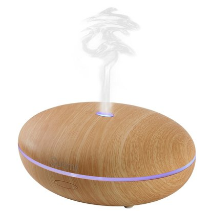 quamii aromatherapy essential oil diffuser 400ml ultrasonic cool mist aroma humidifier 7 color changing led