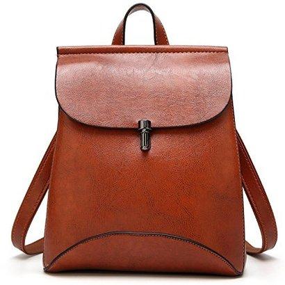 simyeer women's pu leather backpack purse ladies casual shoulder bag school bag