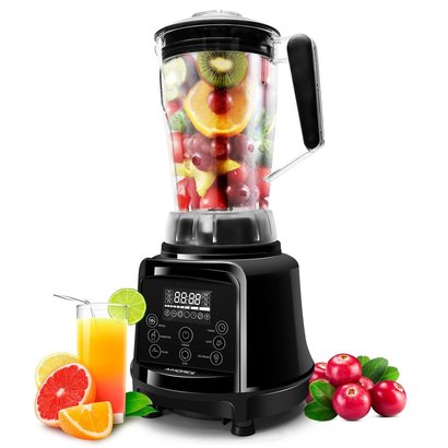 aimores as-up998 commercial blender pre-programmed for smoothie, soup, juice, ice cream, puree with 6 speeds and 75oz tritan pitcher