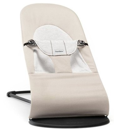 babybjorn balance soft bouncer with four positions for both rest and play (beige/grey)