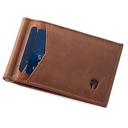 bryker hyde rfid blocking bifold slim minimalist front pocket leather wallet includes money clip ID holder 9 slots