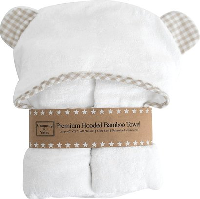channing and yates all natural premium hooded ultra soft bamboo towel perfect toddler towel with hood