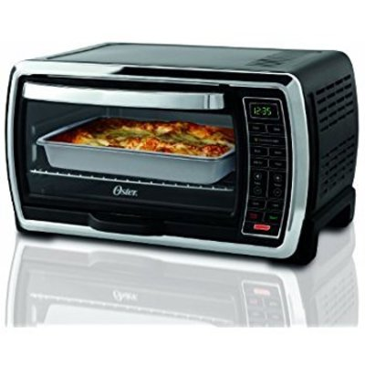 oster large interior capacity countertop 6-slice digital convection toaster oven stainless steel