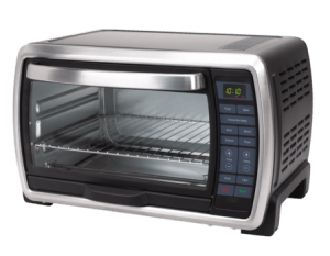 oster large interior capacity countertop 6-slice digital convection toaster oven stainless steel black