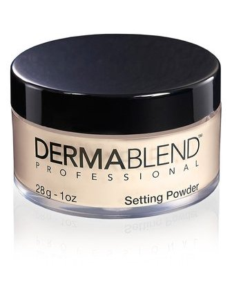 dermablend loose setting powder long wearability, smudge-resistant, professional finishing powder