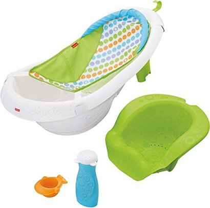 fisher-price 4-in-1 sling n seat tub with stage 3 sit-me-up support grows' with baby