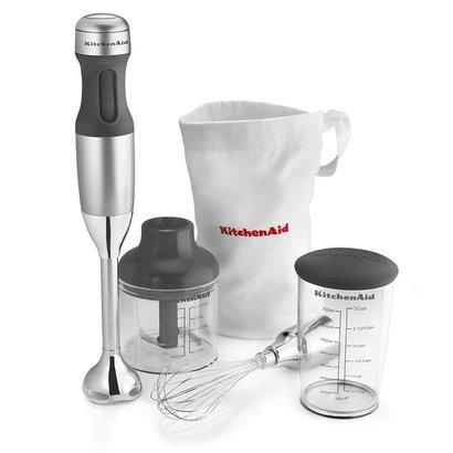 kitchenaid khb2351cu 3-speed hand blender with 3-cup bpa-free blending jar with lid and storage bag
