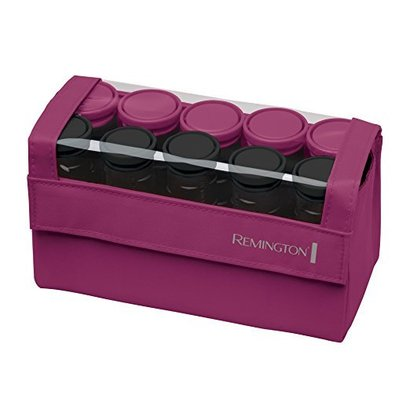 remington h1015 compact ceramic roller set with two sizes hair rollers, exclusive j-clip and carrying case