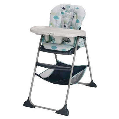graco slim snacker high chair with 3 position reclining seat and 3 and 5-point harness