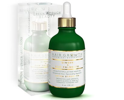hair growth treatment ginger and saw palmetto lab formulated double strength botanical hair recovery system promotes hair growth and improves thinning hair