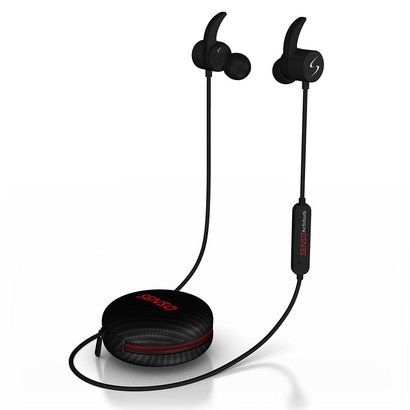 senso bluetooth headphones wireless sports earphones with cvc 6.0 noise suppression technology and ipx5 waterproof desing with magnetic earbuds secure fit