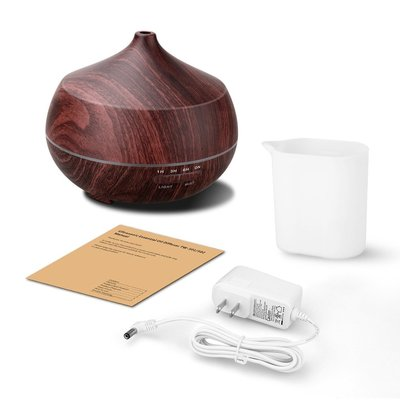 arova 400ml aromatherapy essential oil diffuser with 7 color changing led light, aroma cool mist humidifier, adjustable mist mode and auto shut-off